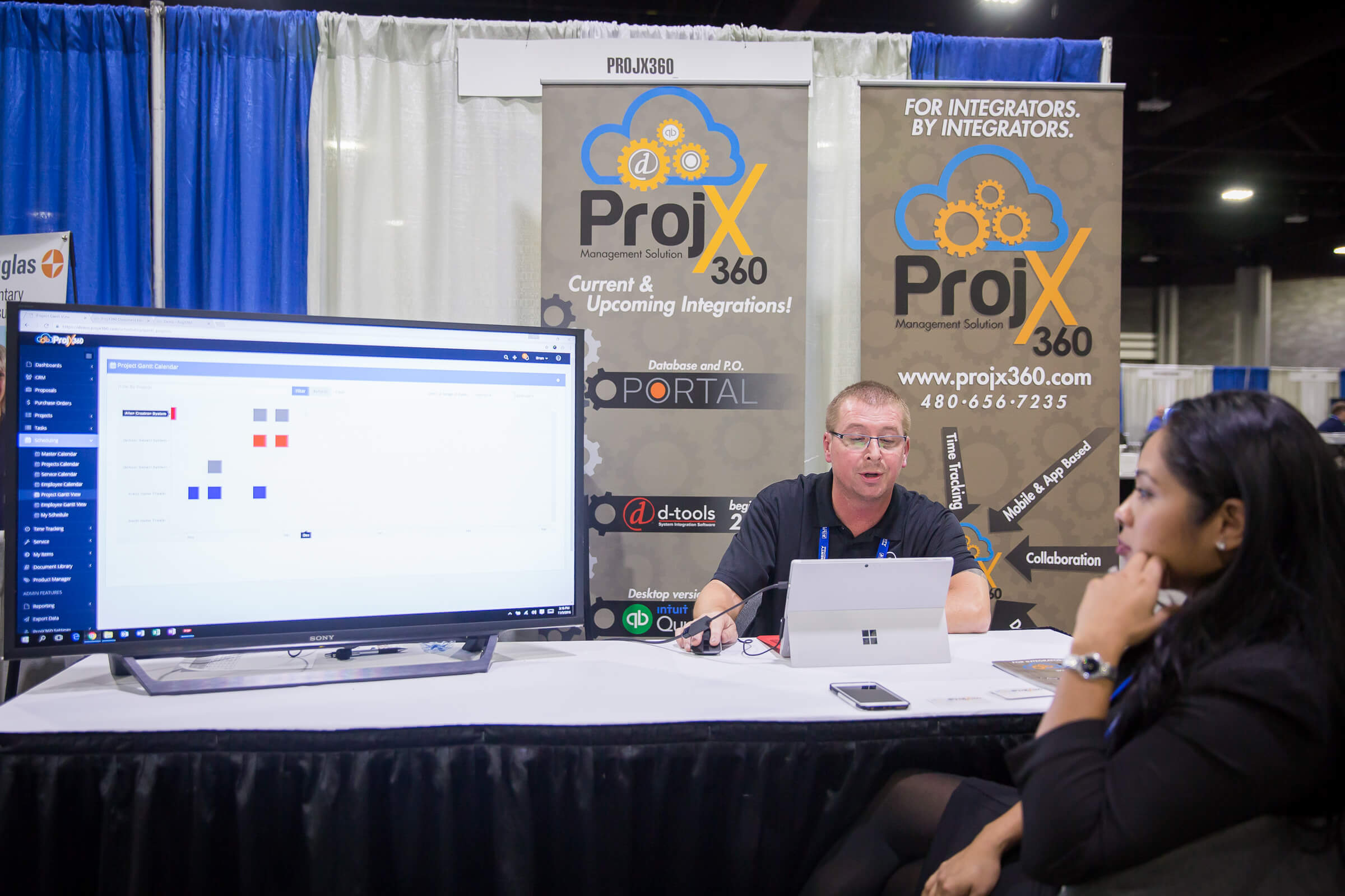 The ProjX360 software was on display at the 2016 Total Tech Summit.