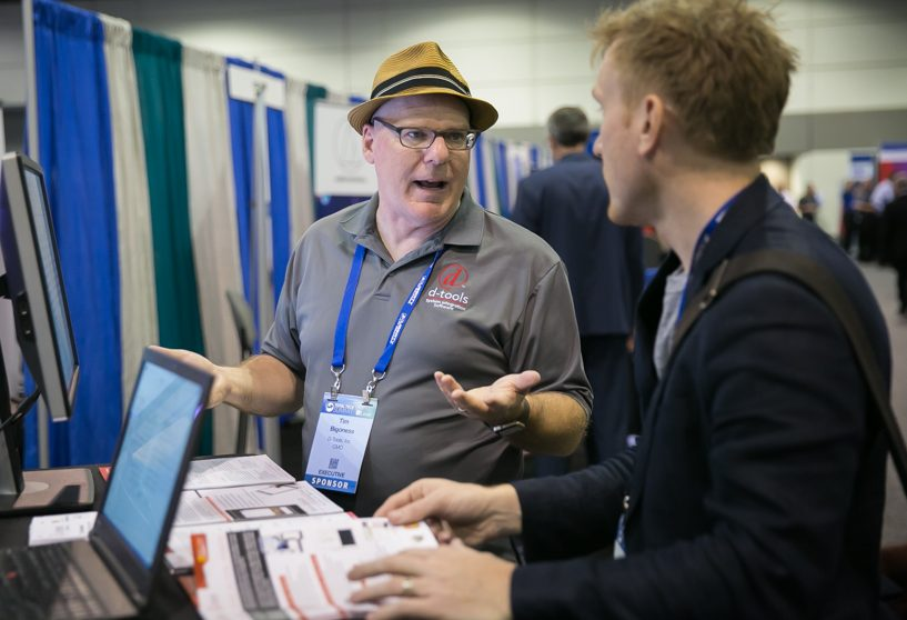 D-Tools chief marketing officer Tim Bigoness says the guaranteed one-on-one meetings help provide a positive ROI from the Total Tech Summit.