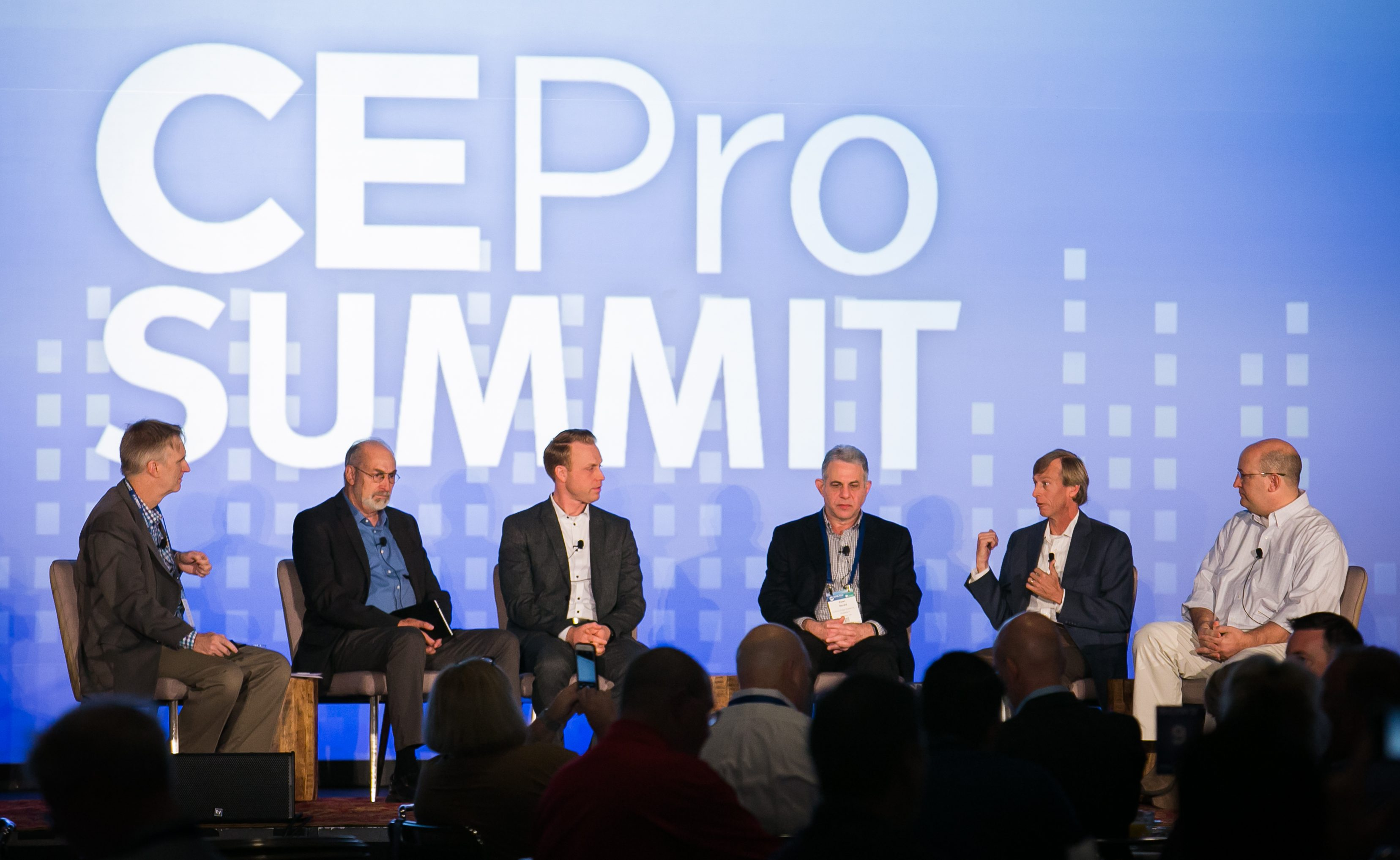 Fulmer (second from right) speaks during the Fresh Horses session at the 2017 CE Pro Summit.